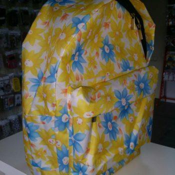 Рюкзак цветы желтые и голубые