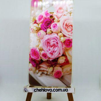 """Чехол для Meizu M5s """"Нежные розы"""" IMD с Рисунком (TPU)"""