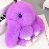 Брелок-кролик фиолетовый (13 см)