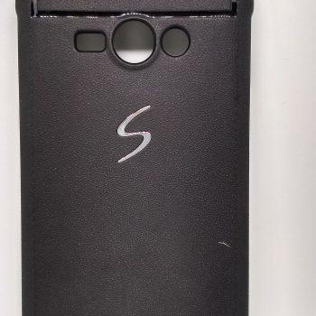 Чехол для Samsung J7 J700  (с металлической вставкой) Baseus черный