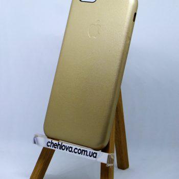 Чехол для IPhone 7 Накладка кожаная золото