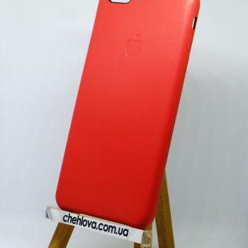Чехол для IPhone 7 Накладка кожаная красная