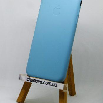 Чехол для IPhone 7 Накладка кожаная бирюзовая