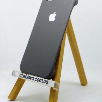 Чехол для IPhone 5/5s Накладка с уголками кожаная серая
