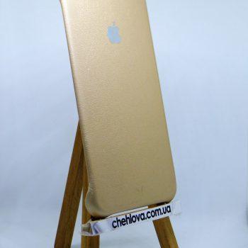 Чехол для IPhone 6 Plus Накладка с уголками кожаная золотая