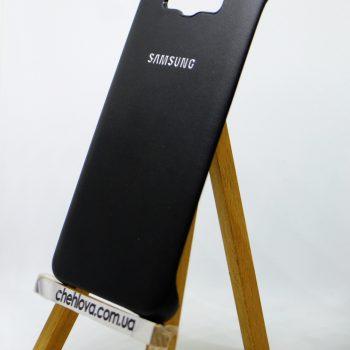 Чехол для Samsung J7 (2016) J710 Накладка с уголками кожаная черная