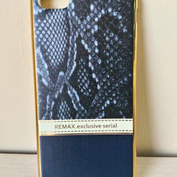 """Силиконовая накладка Remax с золотой окантовкой """"Питон черный"""" Exclusive  для IPhone 6"""