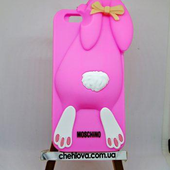 Чехол для IPhone 7 Кролик розовый 3D
