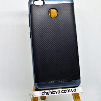 "Накладка iPAKY ""Карбон"" Xiaomi Redmi 3S синий"