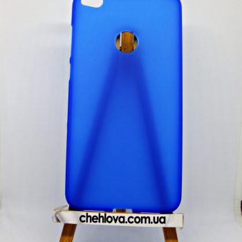 Чехол для Huawei P8 Lite (2017) синий (силикон)