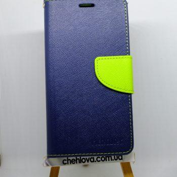 Чехол для Xiaomi Redmi Note 4x Книжка Goospery Fancy синяя с зеленым