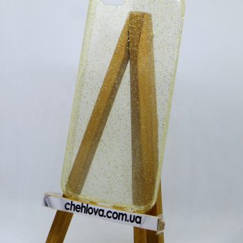 Чехол для IPhone 7 Перламутровый золотой (силикон)