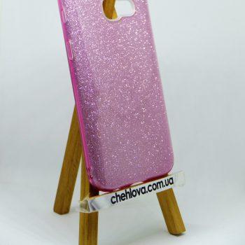 "Чехол для Samsung J7 Prime  ""TWINS""розовый"