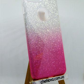 """Чехол для IPhone 7""""TWINS""""   3в1 с переливом розовый"""