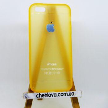 Чехол для IPhone 5/5s Baseus оранжевый (силикон)