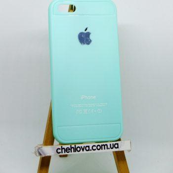 Чехол для IPhone 5/5s Baseus бирюзовый (силикон)