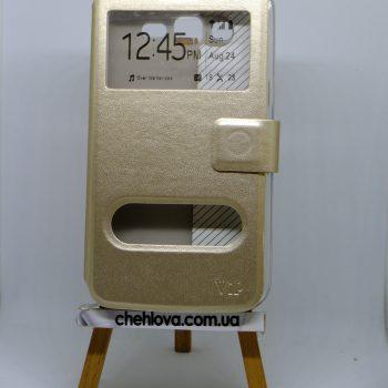 Чехол-книжка  с окошком Samsung G7102 золотой