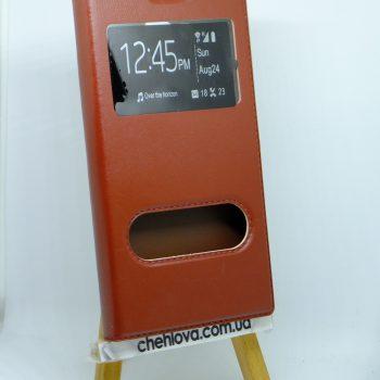 Чехол-книжка Flip WM с окошком Samsung G7102 коричневый