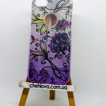 """Чехол для  iPhone 7  Mask Collection """"Фиолетовые цветы"""""""