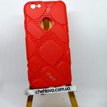 Чехол для IPhone 7  iFace силикон красный