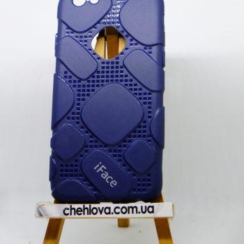 Чехол для IPhone 7  iFace силикон синий
