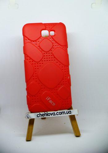 Чехол для Samsung J7 Prime  iFace силикон красный