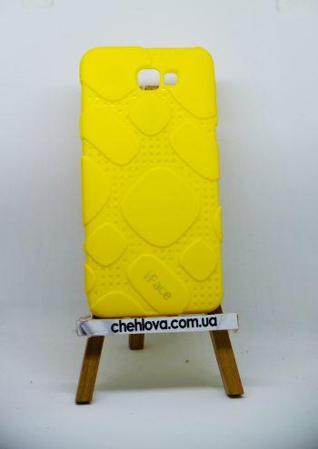 Чехол для Samsung J7 Prime  iFace силикон желтый
