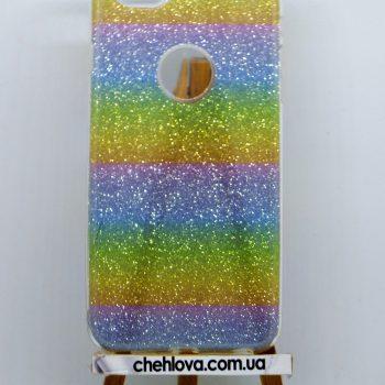 "Чехол для IPhone 7 ""TWINS"" радуга"