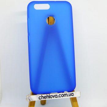 Чехол для Huawei Nova 2 голубой силикон