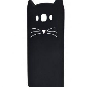 Чехол для Samsung J7 J700  Кот черный 3D