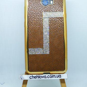 Чехол для Huawei Y5-II  Motomo кожа с камнями Z (Коричневый)