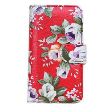 Чехол для Samsung J7 J700 Книжка Красные цветы