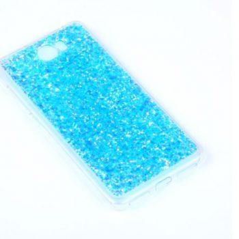 """Чехол для Huawei Y5 II/Y5 2 (CUN-U29)  """"Блестинки"""" голубой (силикон)"""