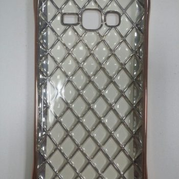 Чехол для Samsung J7 J700  Сетка розовое золото (силикон)