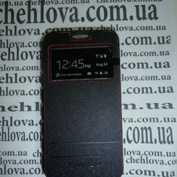 Чехол для Lenovo S850 Imperium Книжка со скрытым магнитом и окном черная
