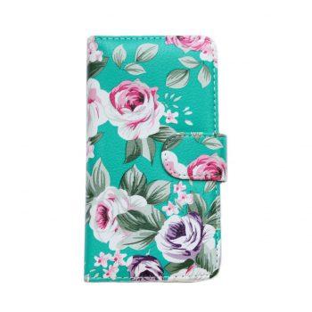 Чехол для Samsung J7 J700 Книжка Зеленые цветы