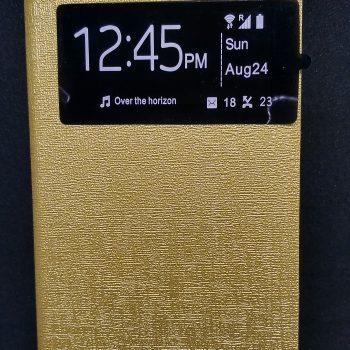 Чехол для  Lenovo A1000  Книжка ULIKE с окном золотая