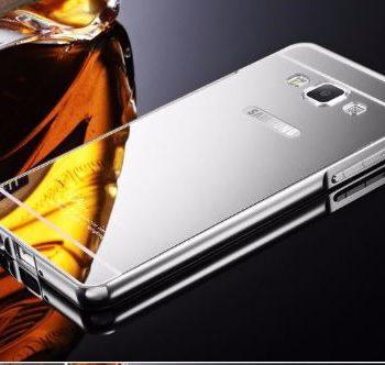 Зеркальный чехол для Samsung Grand Prime G530/531 серебристый