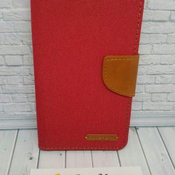 Чехол для Xiaomi Redmi Note 4 Книжка Goospery Canvas красная