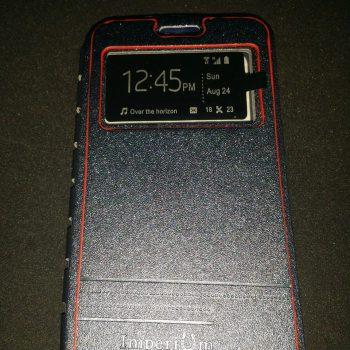 Чехол для Lenovo A859 Imperium Книжка со скрытым магнитом и окном  серая