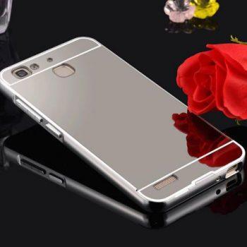 Зеркальный чехол для Huawei GR3 серебрянный