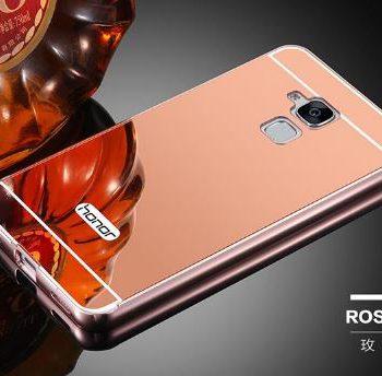 Зеркальный чехол для Huawei GT3 розовое золото