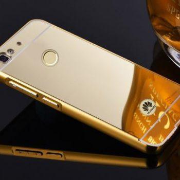Зеркальный чехол для Huawei Nova золотой