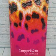 """Чехол для Samsung Galaxy S4 I9500  Imperium Книжка-флип + 2 защитных пленки """"Розовый леопард"""""""