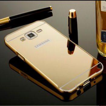Зеркальный чехол для Samsung J1 J100  золотой