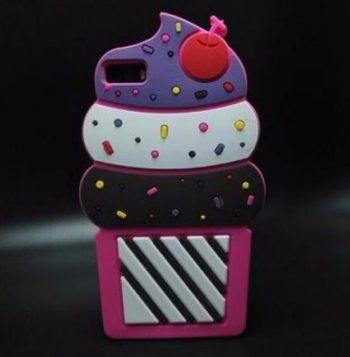 Чехол для Huawei P8/P8 lite пироженное малиновое 3D