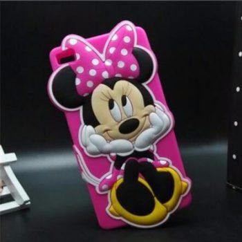 Чехол для Huawei P8/P8 lite Минни розовая 3D