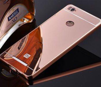 Зеркальный чехол для Xiaomi 3s/3 Pro розовое золото