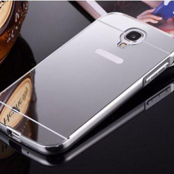 Зеркальный чехол для Samsung S4 I9500 серебристый