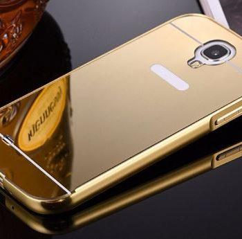 Зеркальный чехол для Samsung S4 I9500 золото